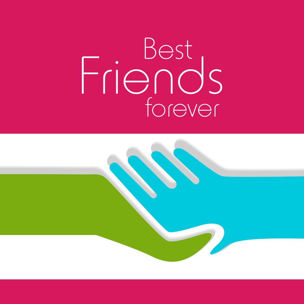 Happy Friendship Day Concept With Hand Shaking Icon On Pink And White Background.