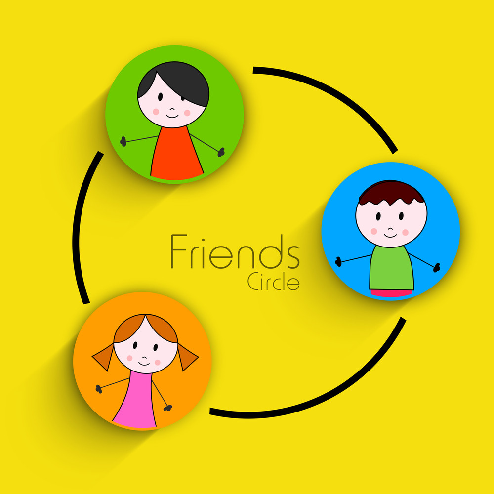 Happy Friendship Day Concept With Sticker