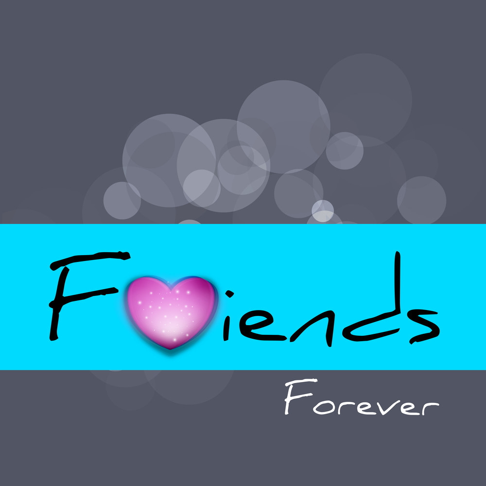 Happy Friendship Day Concept With Stylish Text Friends On Grey And Blue Background.