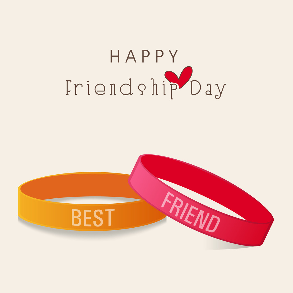 Happy Friendship Day Concept With Two Beautiful Friendship Band