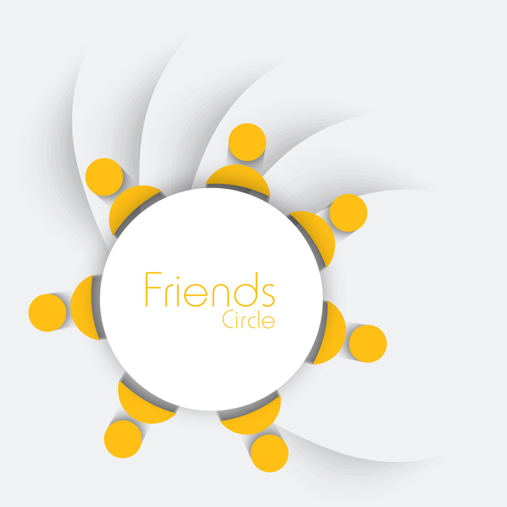 Happy Friendship Day Concept With Yellow User Icons On Grey Background.