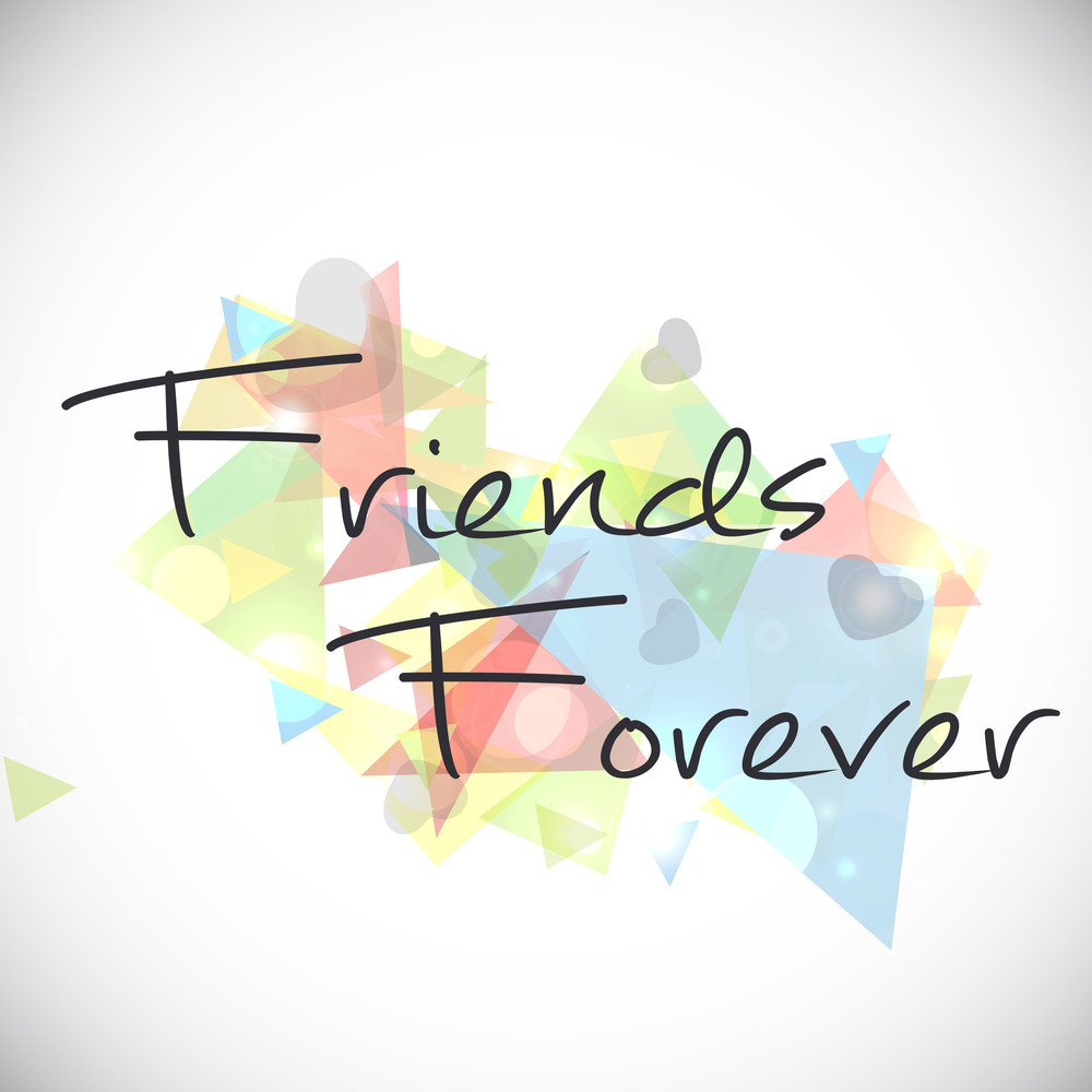 Happy Friendship Day With Stylish Text On Colorful Abstract Background.