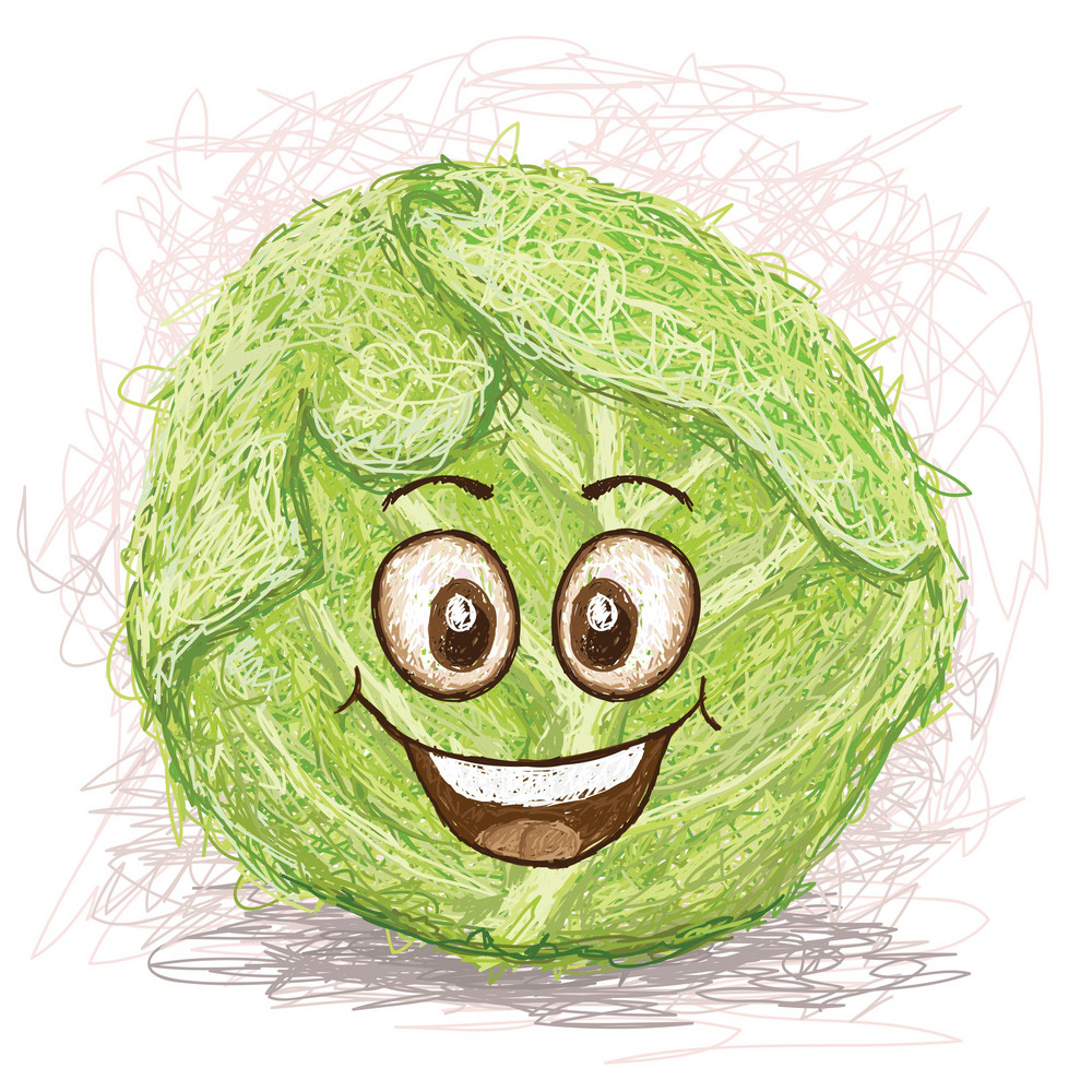 Happy Green Cabbage