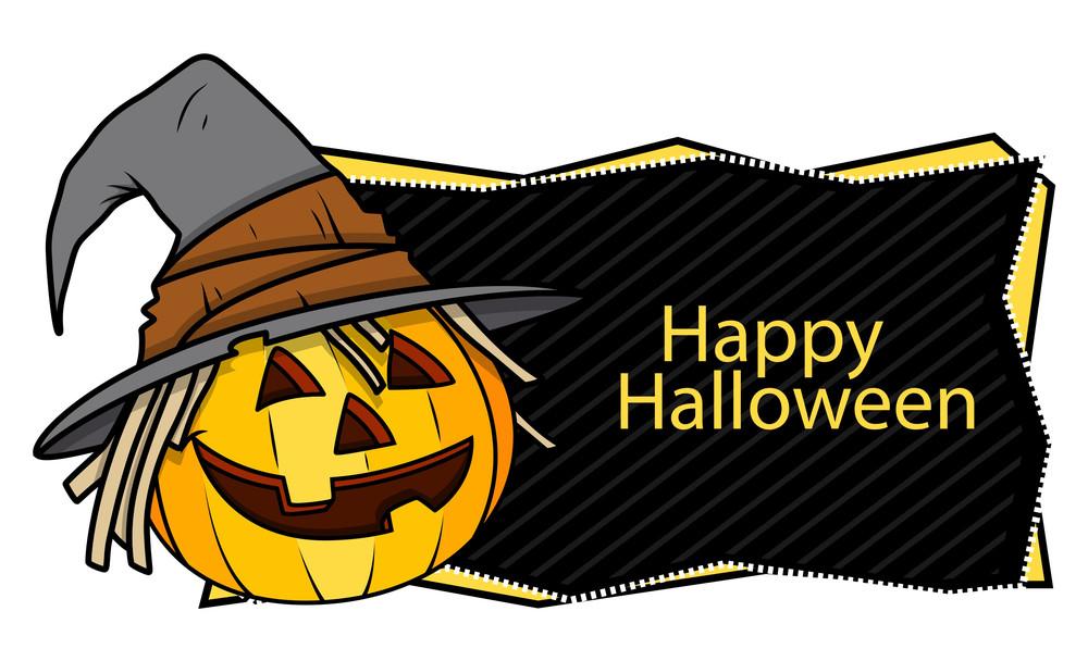 Happy Halloween Banner Royalty-Free Stock Image - Storyblocks