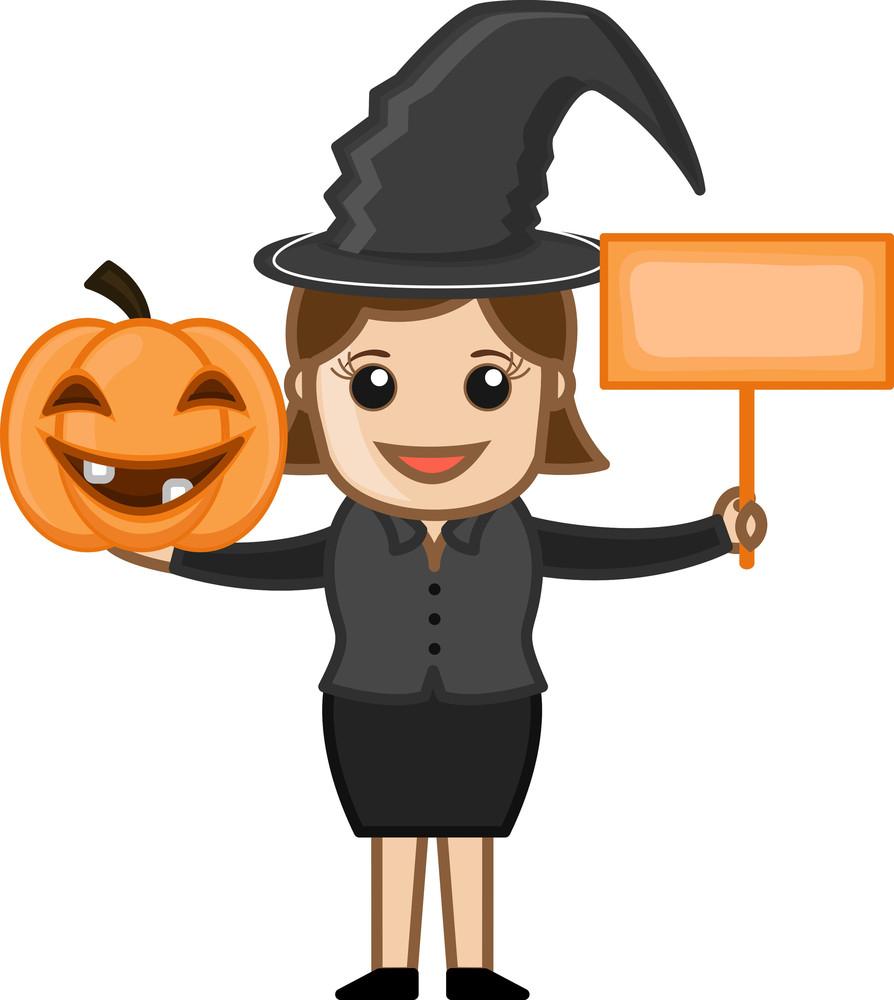 Happy Halloween - Business Cartoon Characters