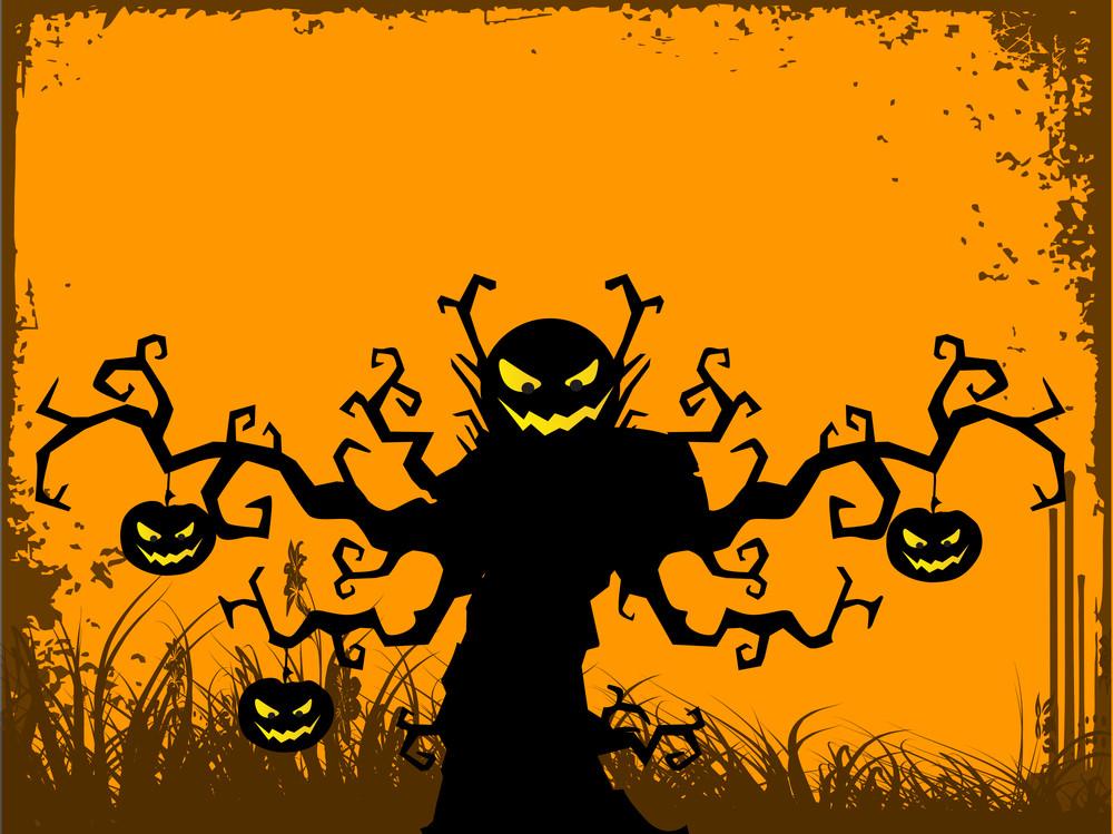 Happy Halloween Celebration Background.