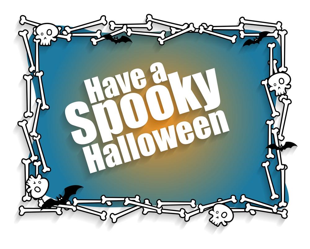 Happy Halloween Greeting Banner Vector