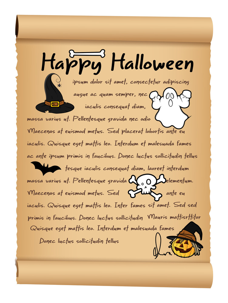 Happy Halloween Parchment Paper Banner