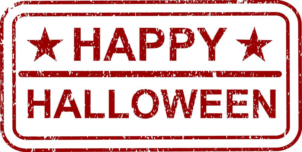 Happy Halloween Retro Stamp