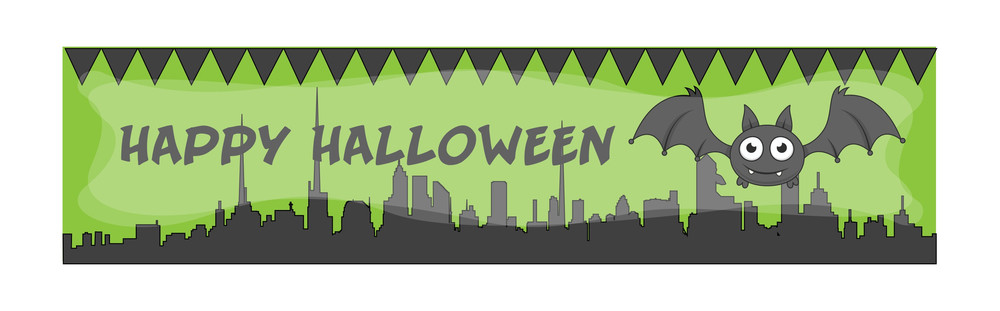Happy Halloween Vector Banner