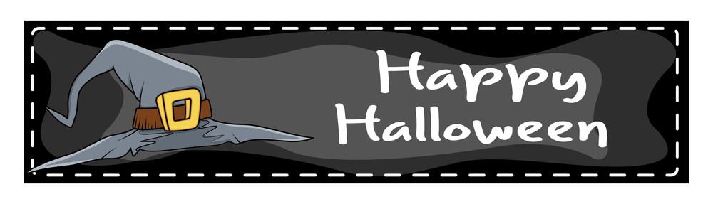 Happy Halloween Witch Hat Banner