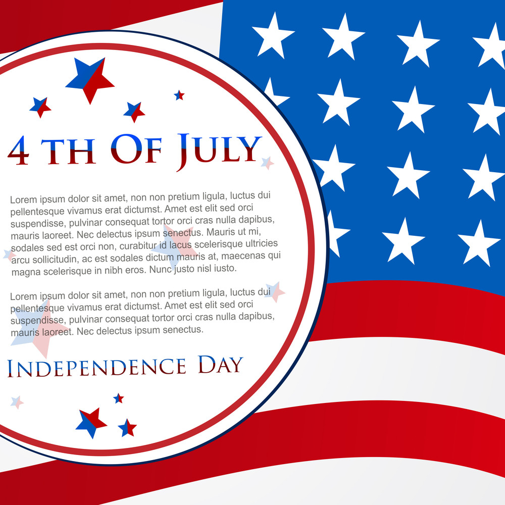happy independence day 4th of july abstract background and cards in