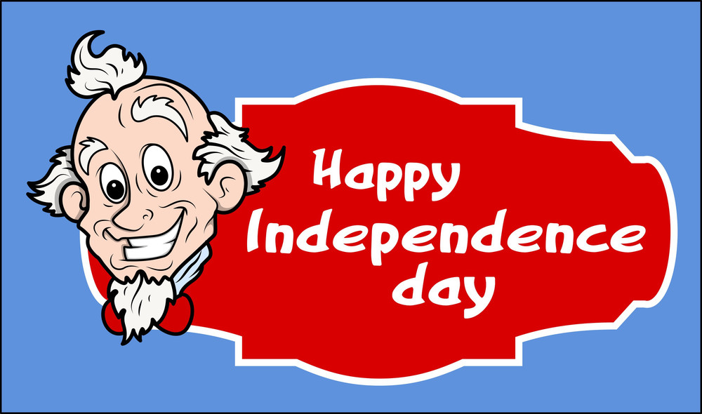 Happy Independence Day Uncle Sam Banner