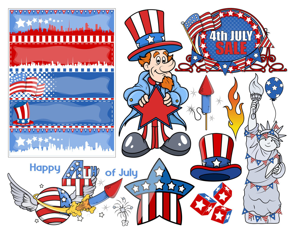 Happy Independence Day Vector Designs Set