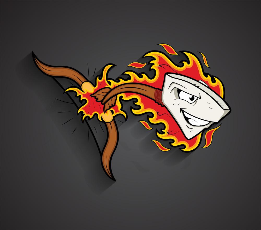 Happy Mascot Arrow Vector Design