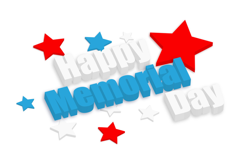 Happy Memorial Day 3d Text
