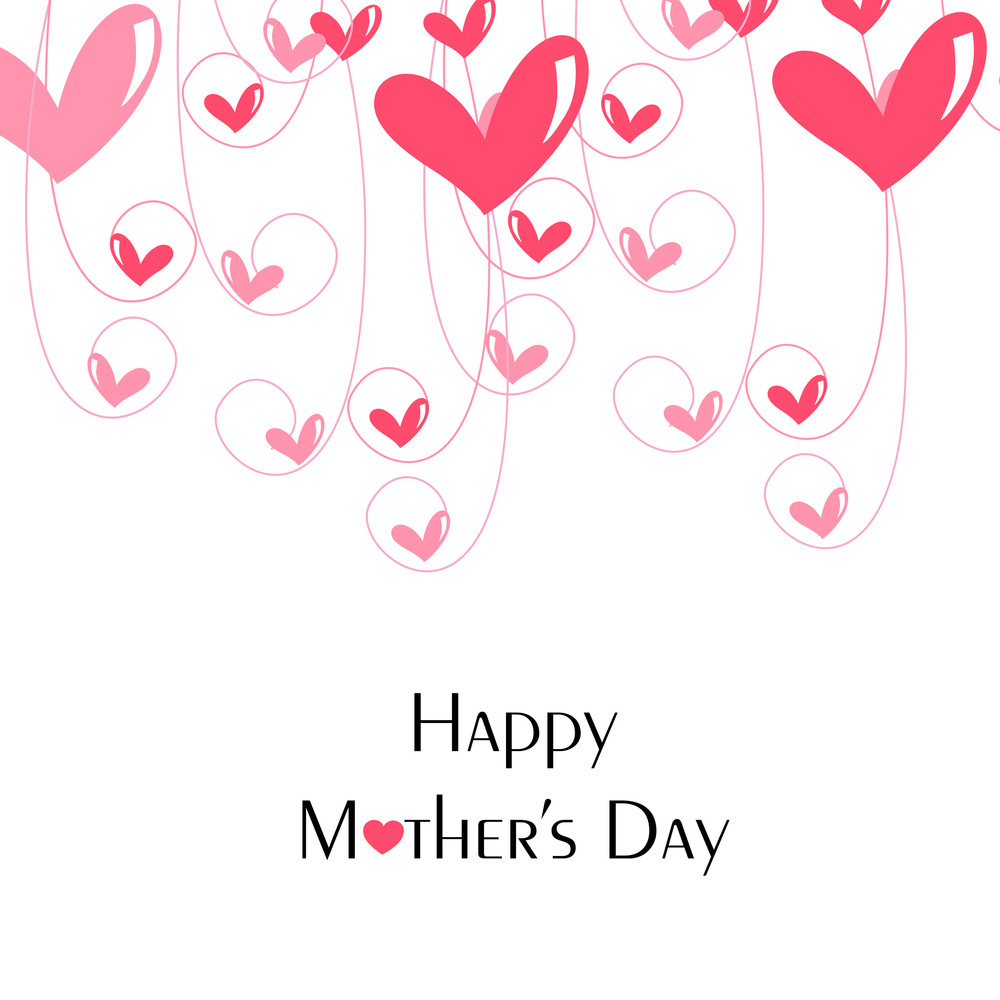 Happy Mothers Day Celebrations Greeting Card Design Royalty Free