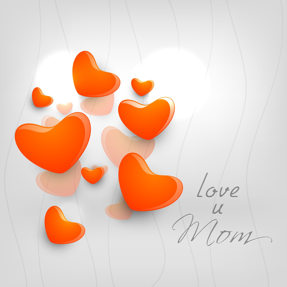 Happy Mothers Day Concept With Hearts