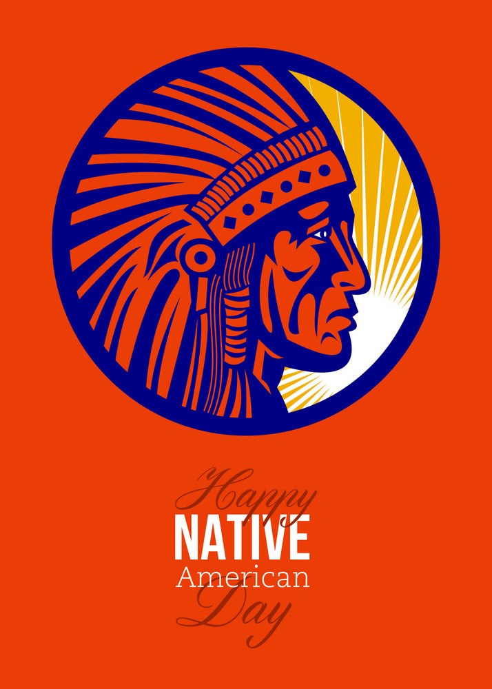 Happy native american day remembrance greeting card royalty free happy native american day remembrance greeting card m4hsunfo