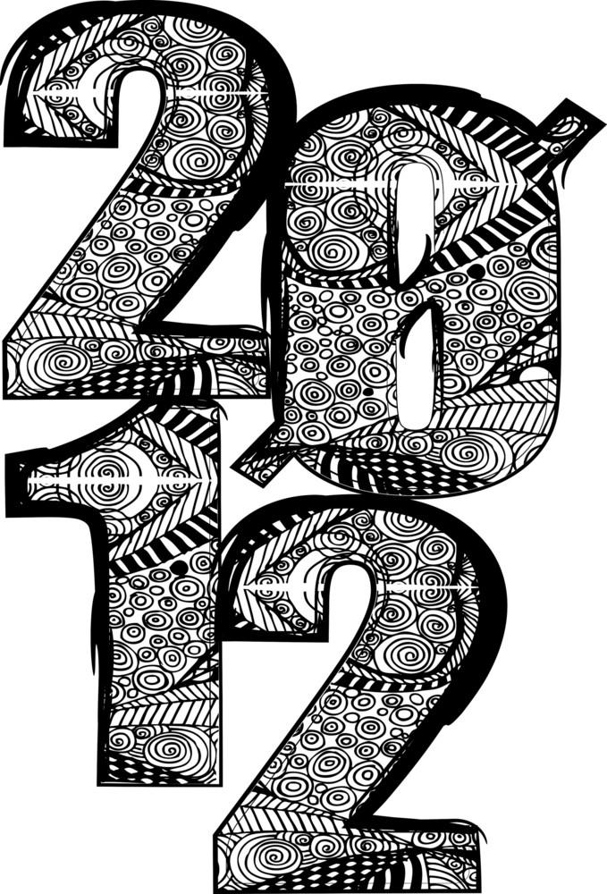 Happy New Year 2012. Vector Illustration