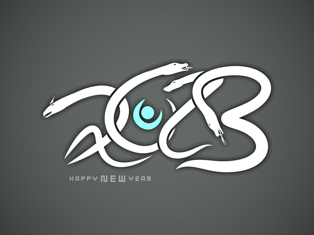 happy new year background with 2013 new year symbol snake royalty