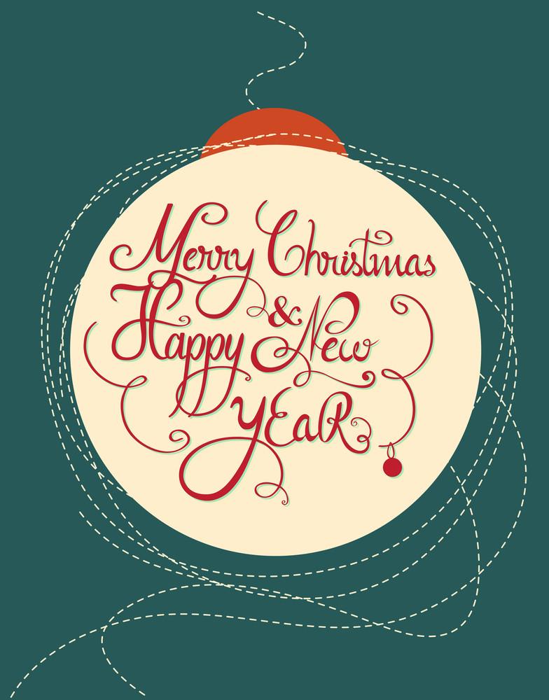Happy New Year  Vector Illustration (editable Text)