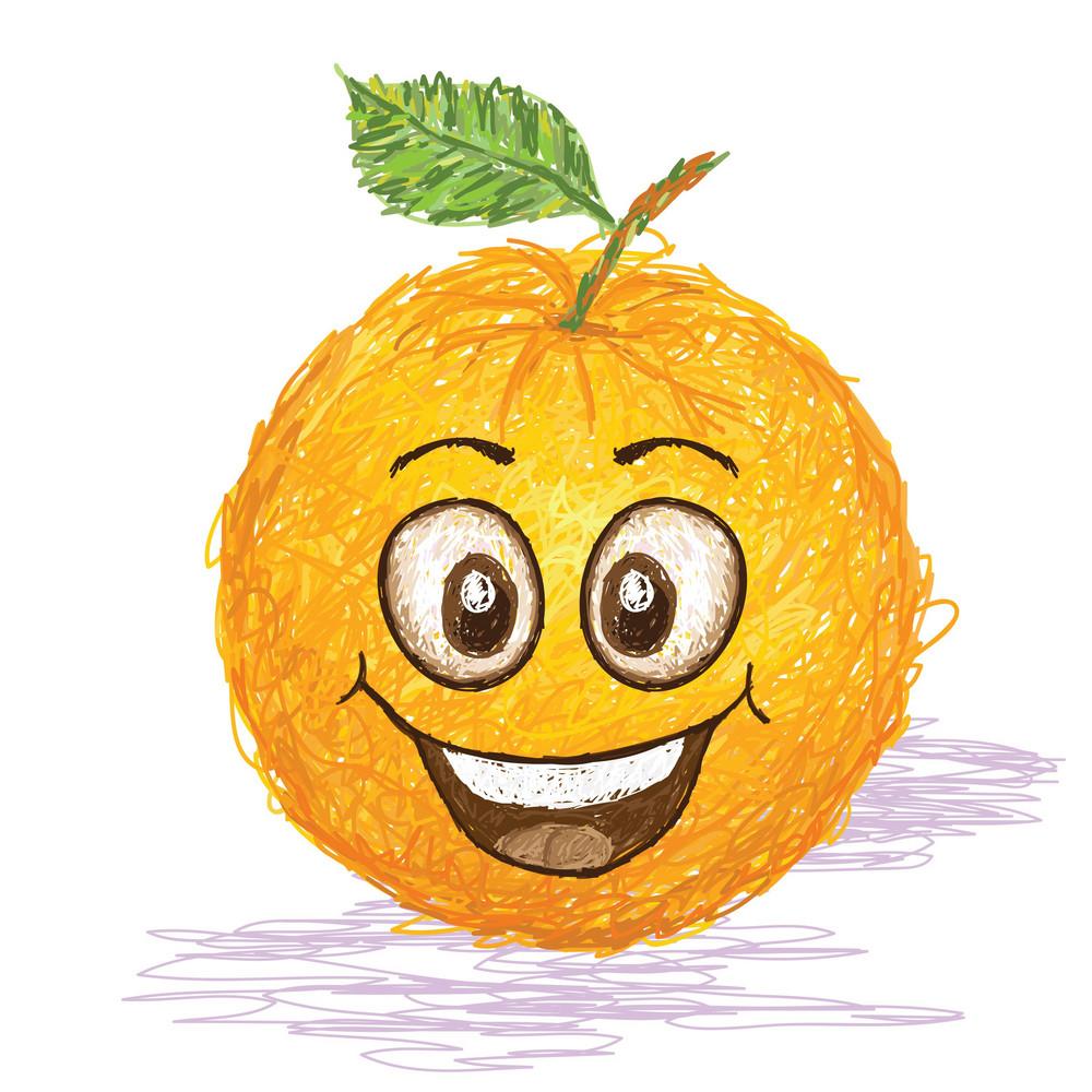 Happy Orange Fruit