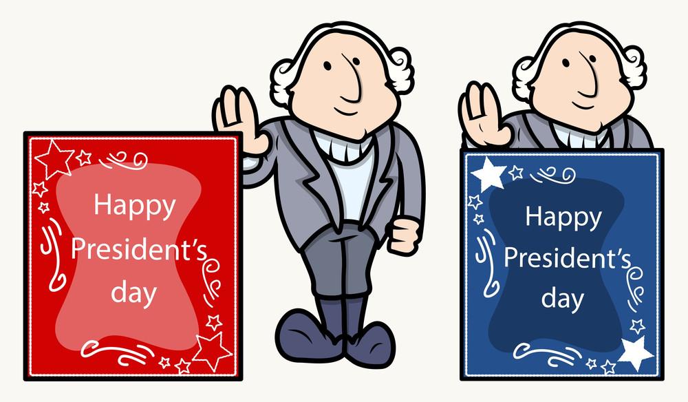 happy presidents day banner george washingtons cartoon clip art rh storyblocks com president day clip art for kids president day clip art for kids