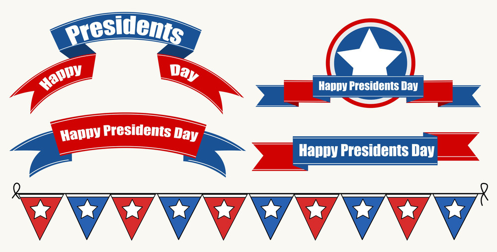 Happy Presidents Day Decoratives Vector