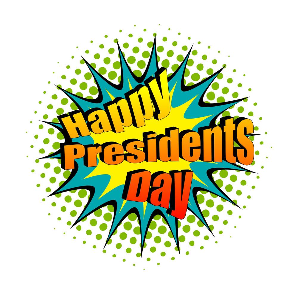 Happy President's Day Retro Text Banner