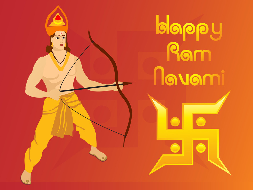 Happy Ramnavami Illustration