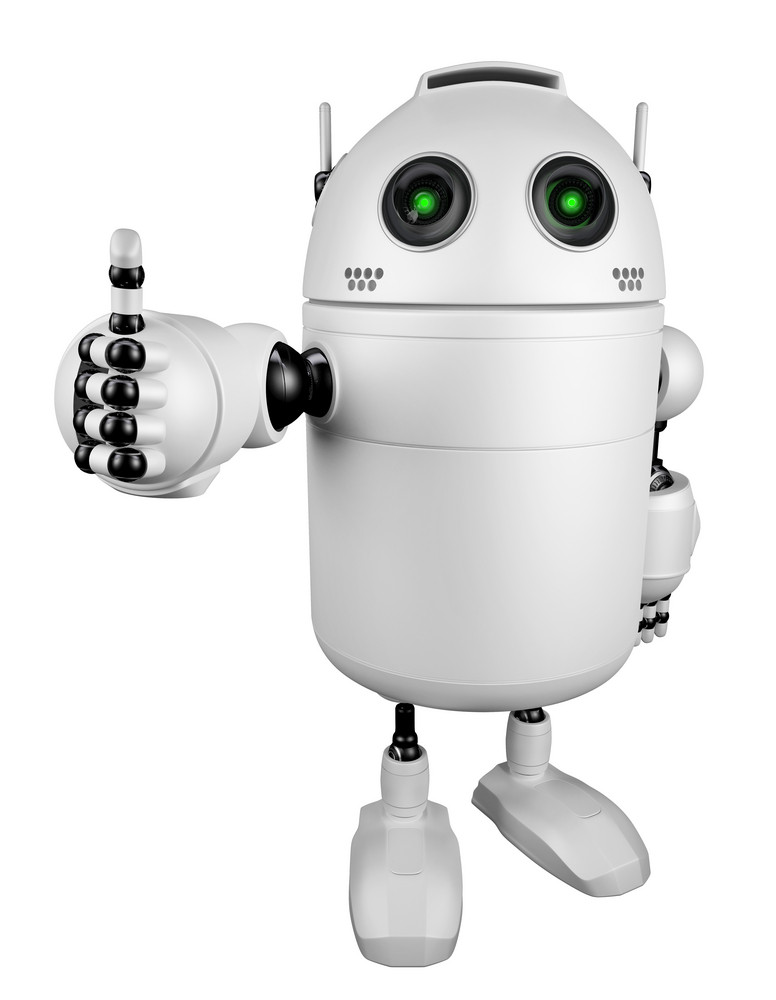 Happy Robot Giving Thumbs Up.