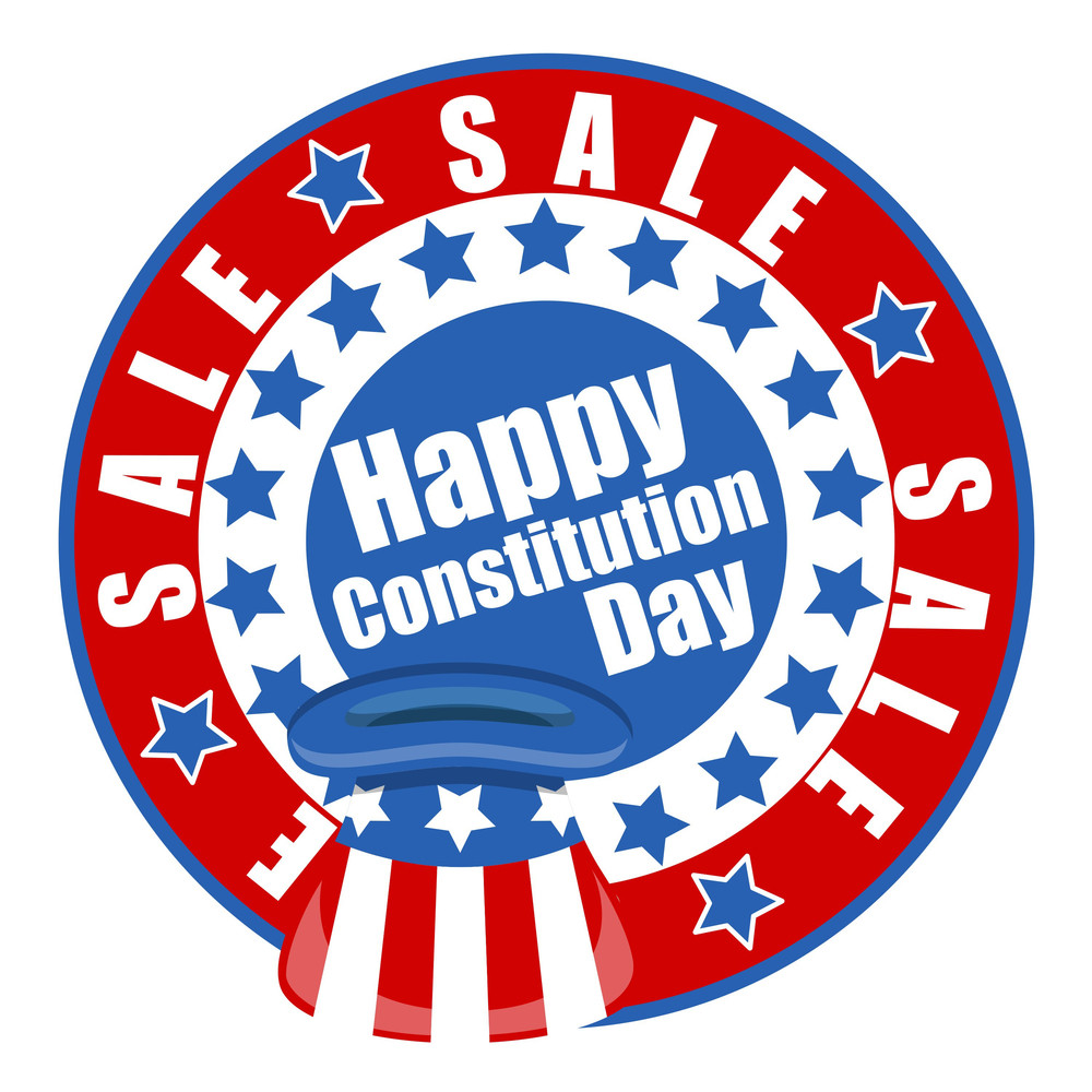 Happy Sale  Constitution Day Vector Illustration
