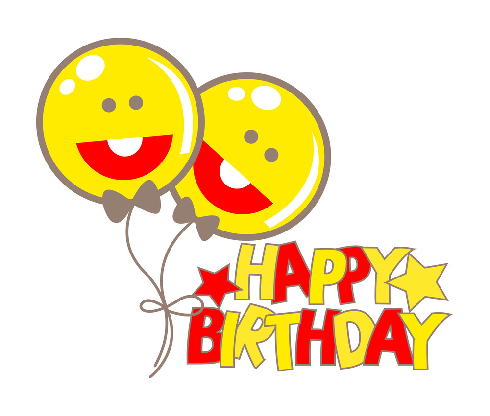 Happy Smiley Birthday Balloons