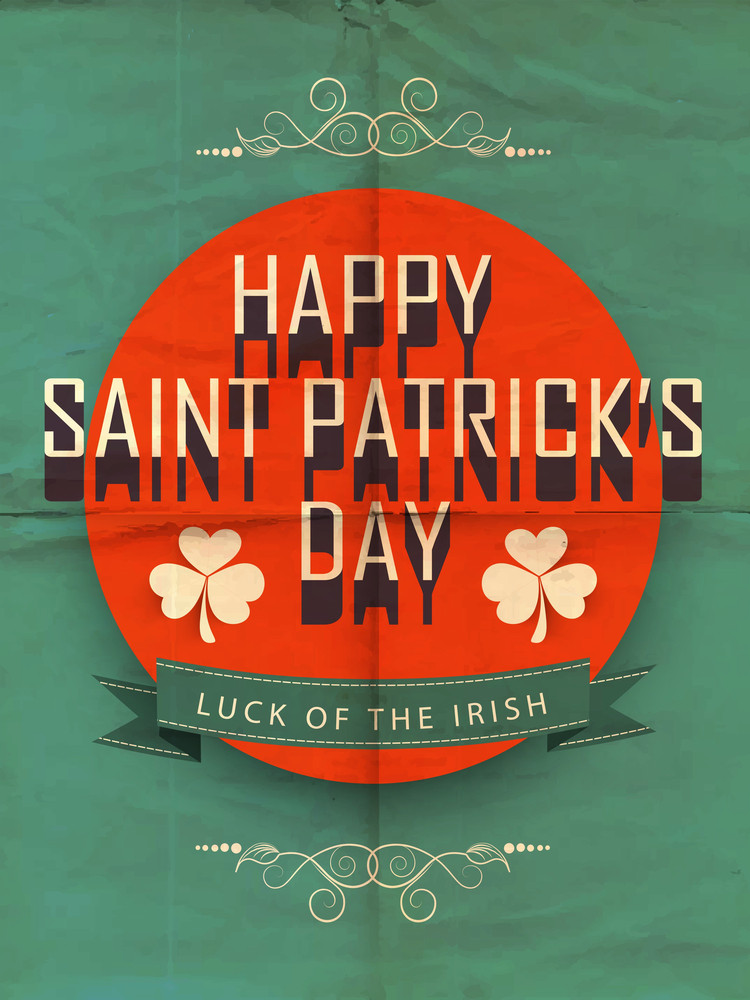 Happy St. Patrick's Day Background With Beer Mug On Shiny Green And Orange Background.