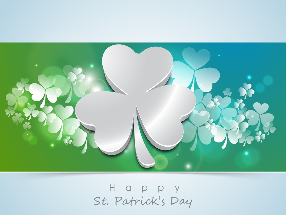 Happy St. Patrick's Day Background With Beer Mug On Stage Against Green Wall.