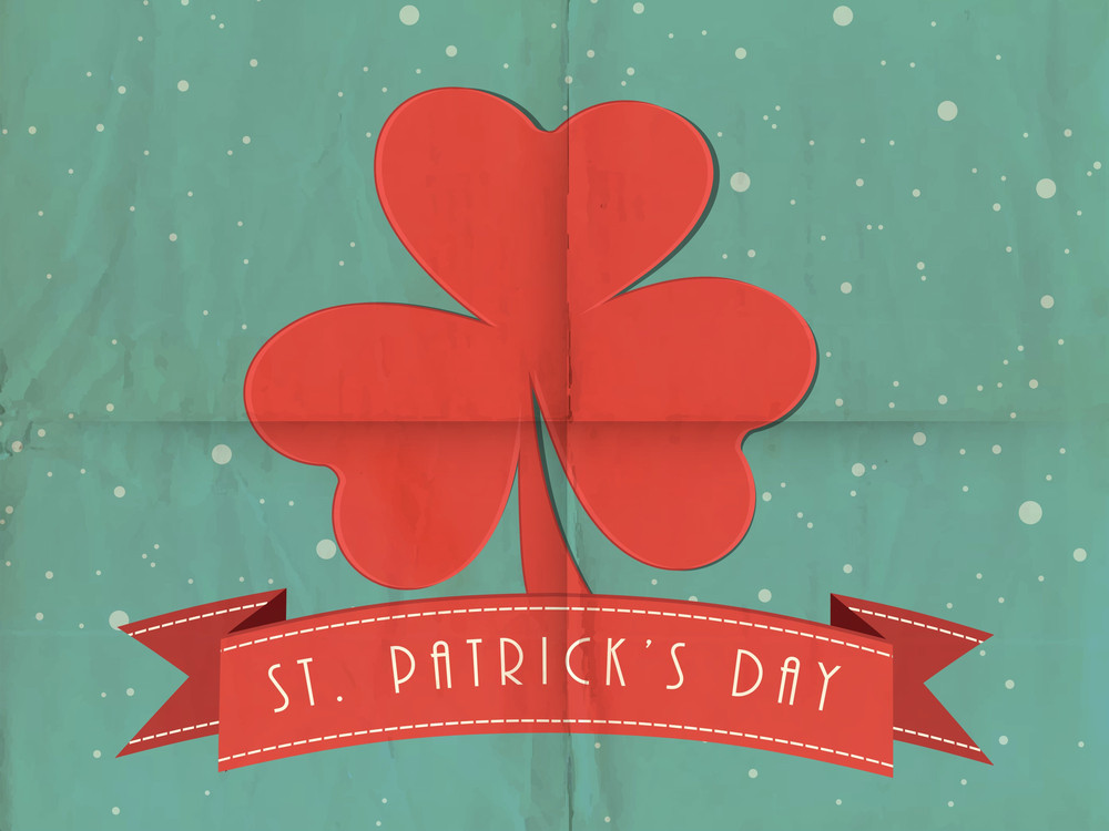 Happy St. Patrick's Day Background With Stylish Text On Colorful Stripes Background