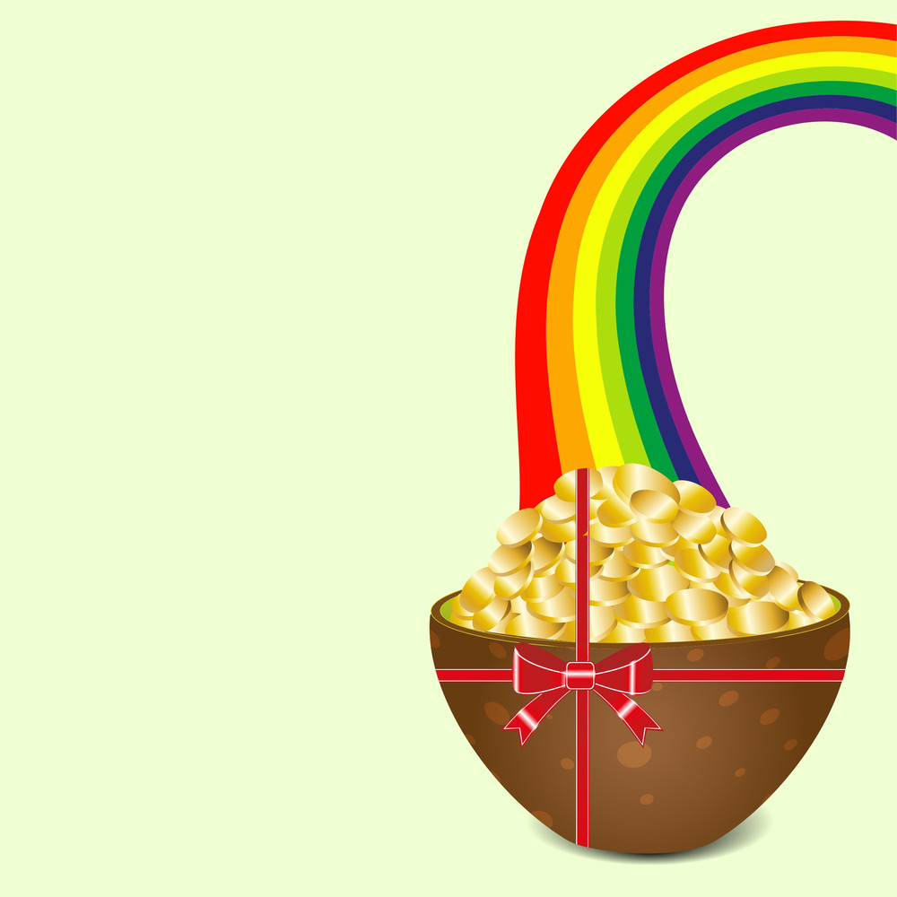 Happy St. Patricks Day Celebration Background With Leprechauns Shoe And Space For Your Message.