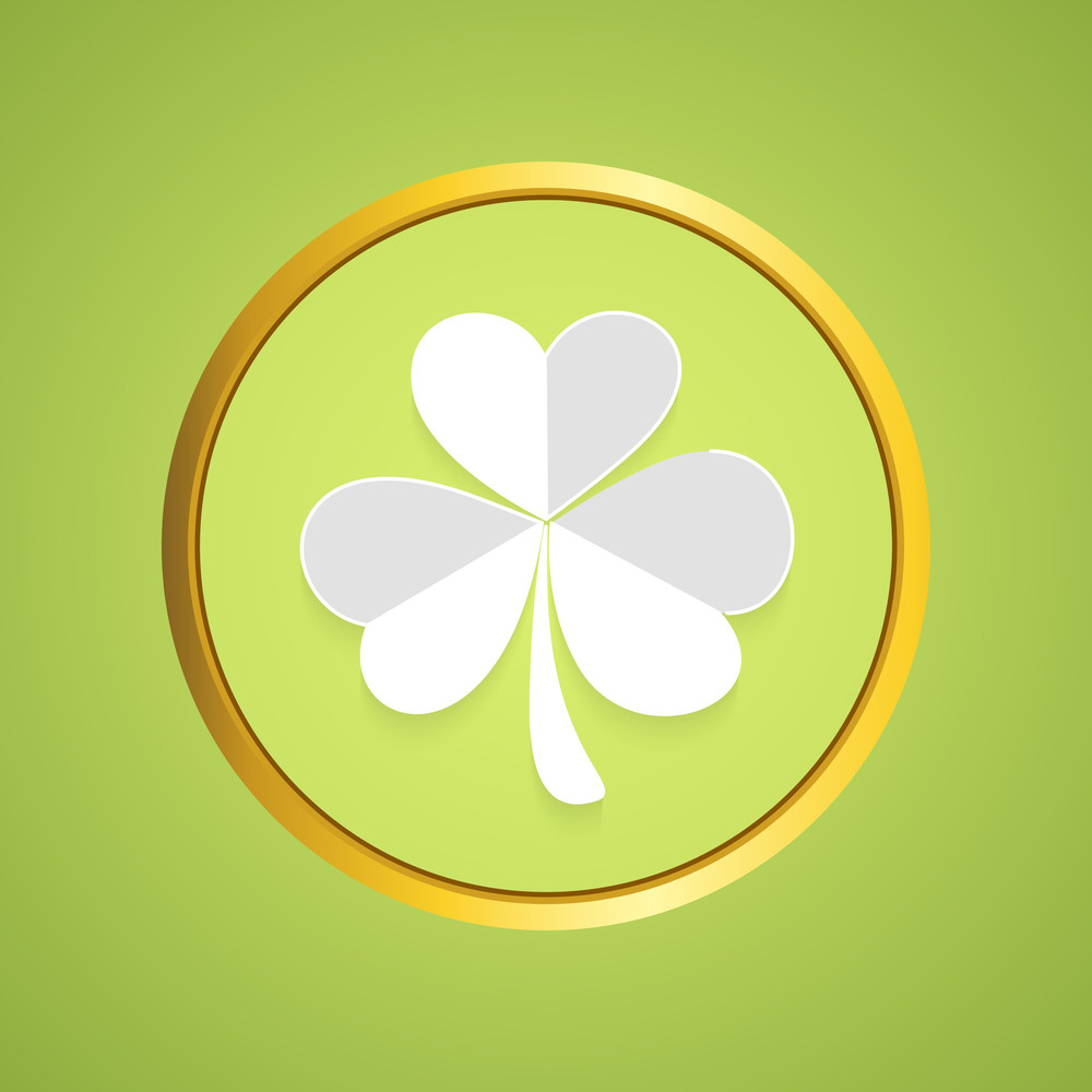 Happy St. Patricks Day Concept With Beautiful Clover Leaf