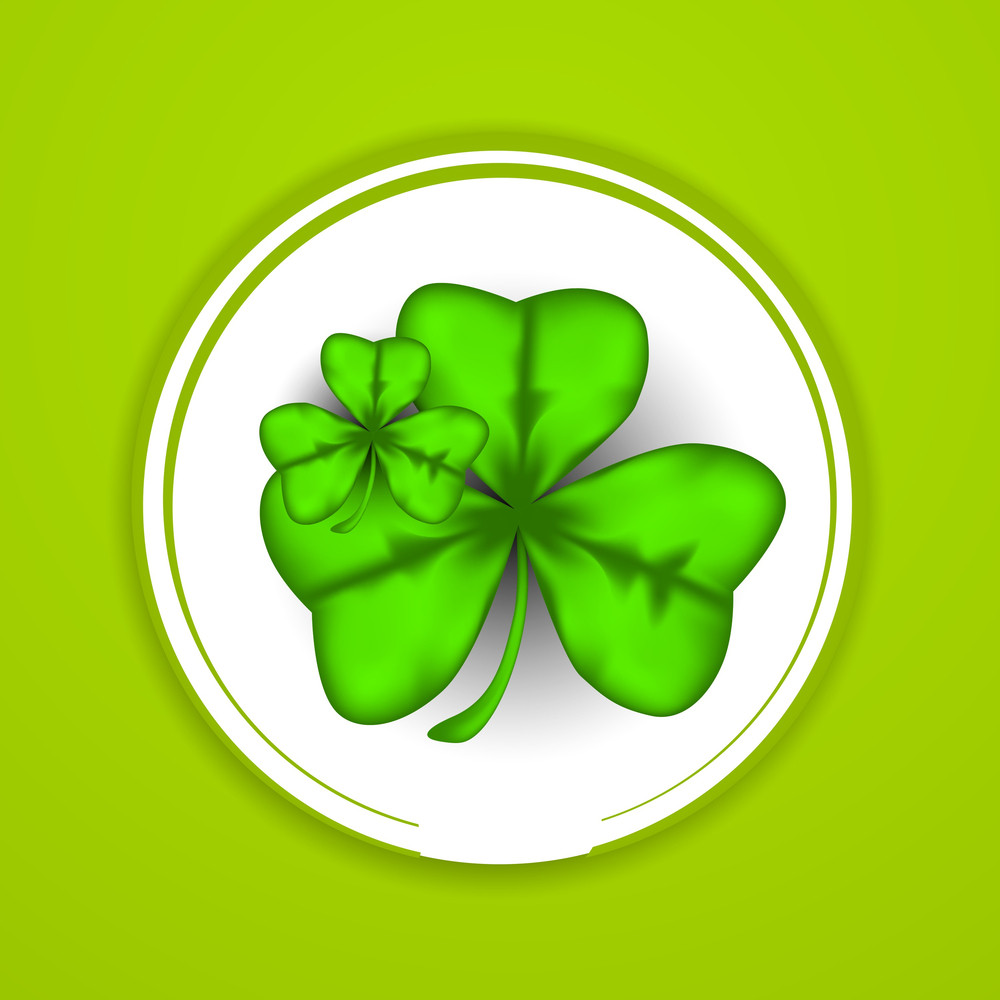 Happy St. Patricks Day Concept With Beautiful Clover Leave
