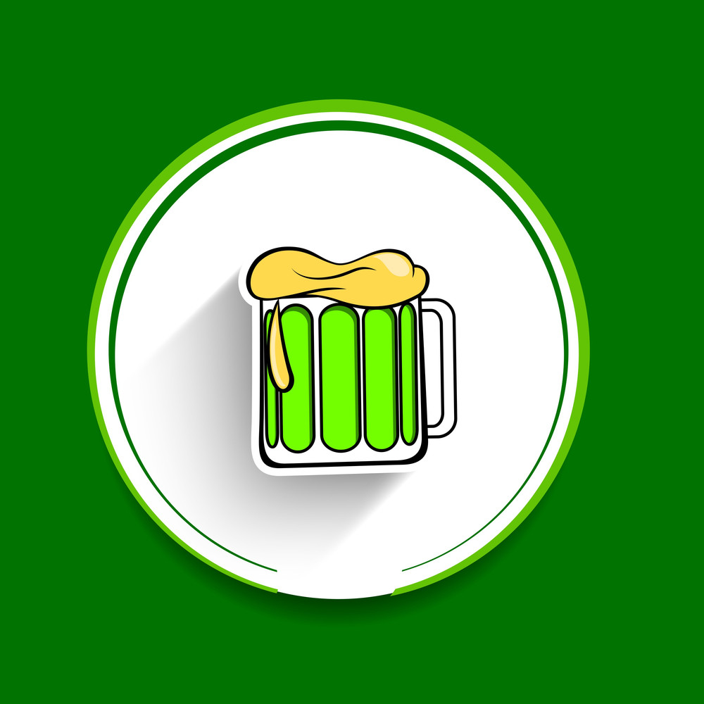 Happy St. Patrick's Day Concept With Beer Mug