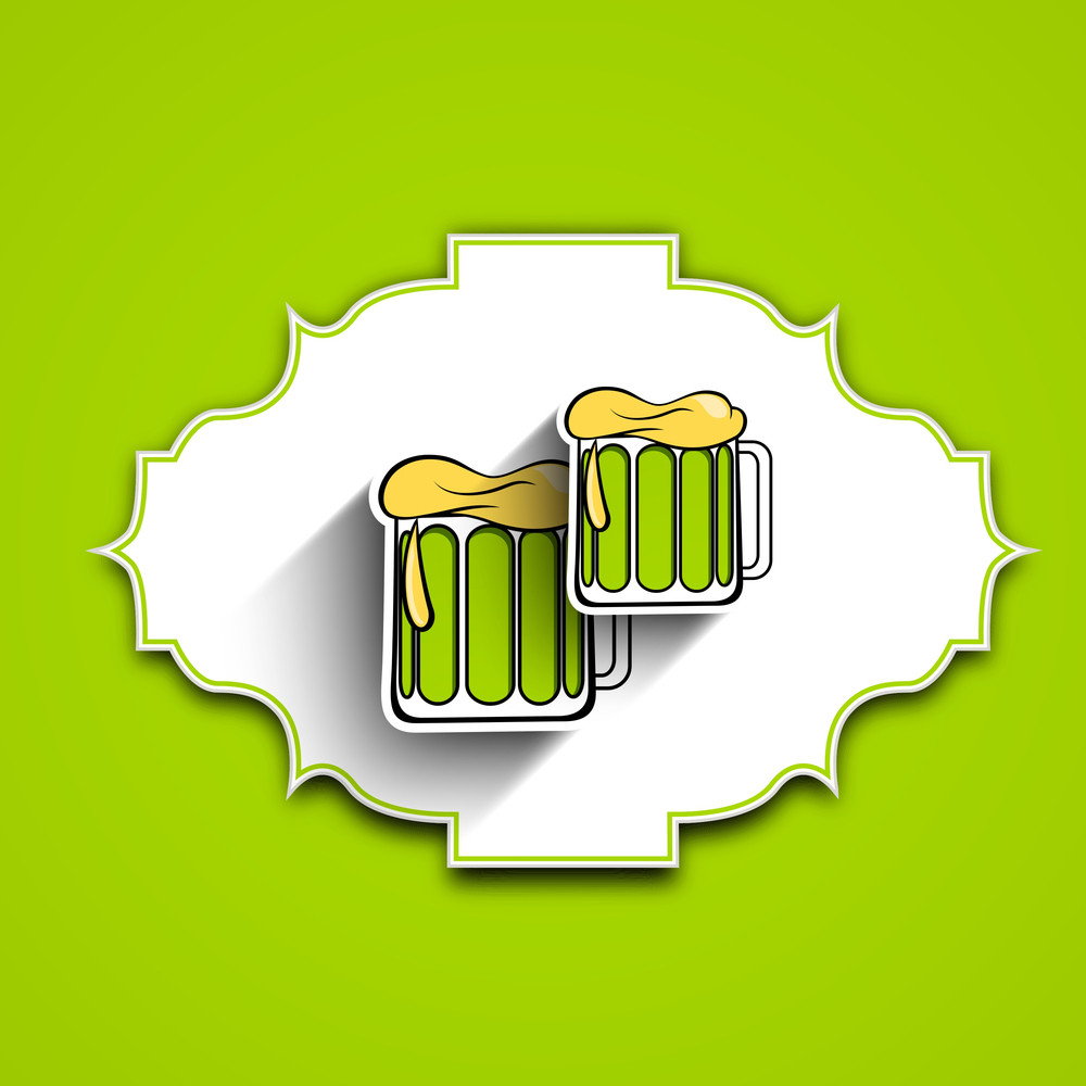 Happy St. Patricks Day Concept With Beer Mugs
