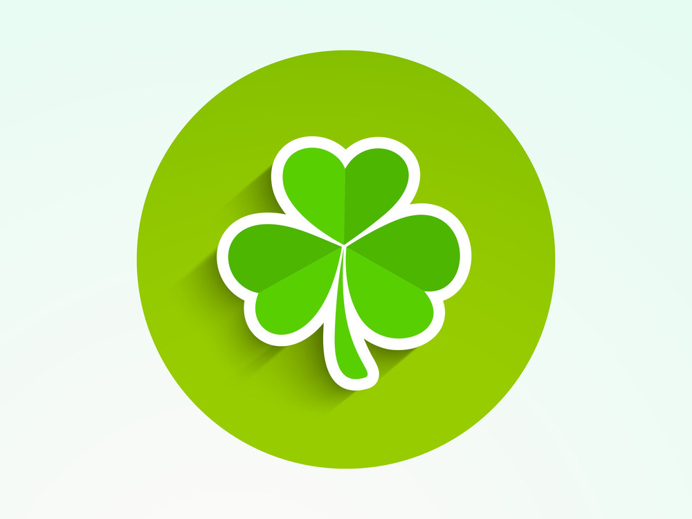 Happy St. Patricks Day Concept With Clover Leaf