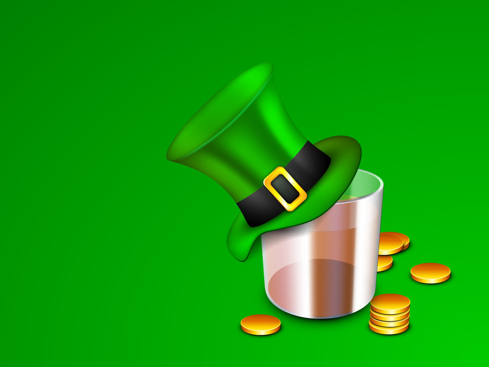 Happy St. Patrick's Day Concept With Empty Beer Glass
