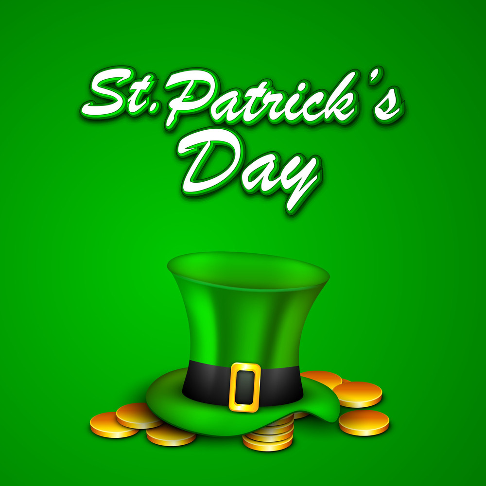 Happy St. Patrick's Day Concept With Leprechaun's Hat