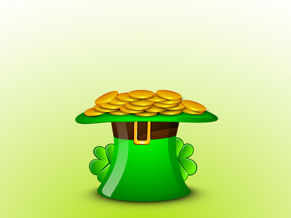 Happy St. Patrick's Day Concept With Leprechauns Hat