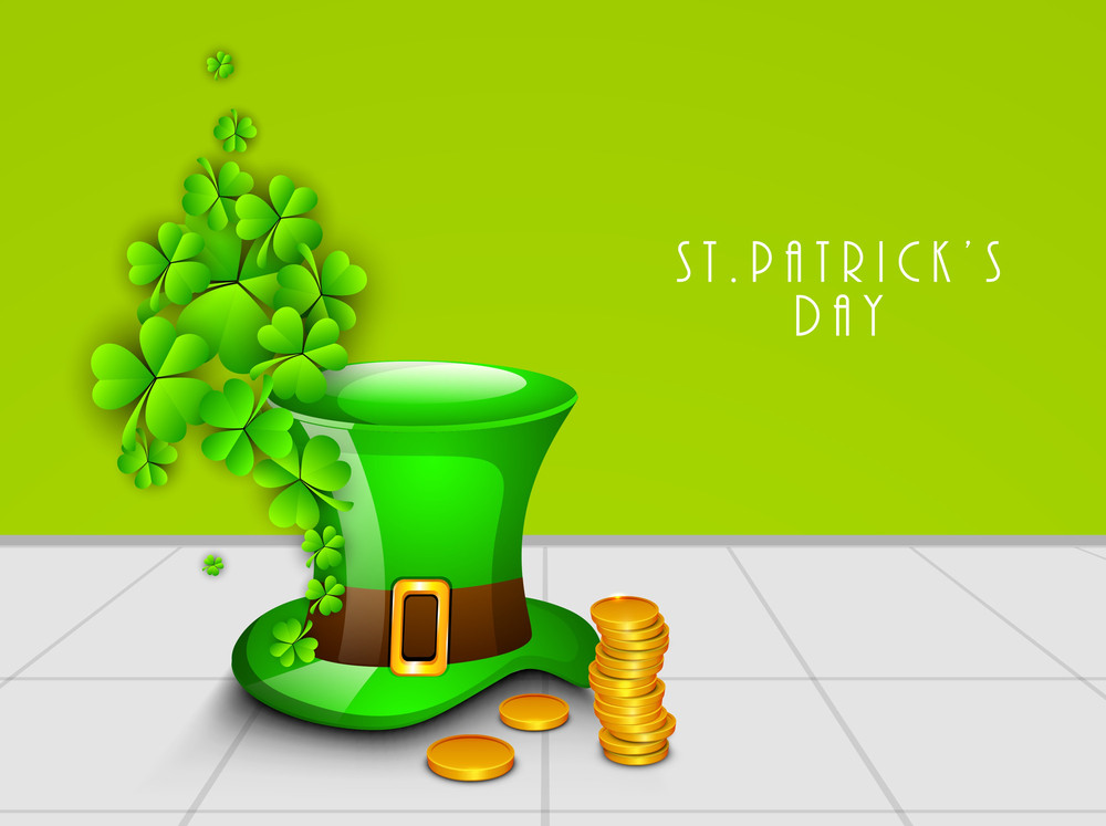 Happy St. Patricks Day Concept With Leprechaun's Hat