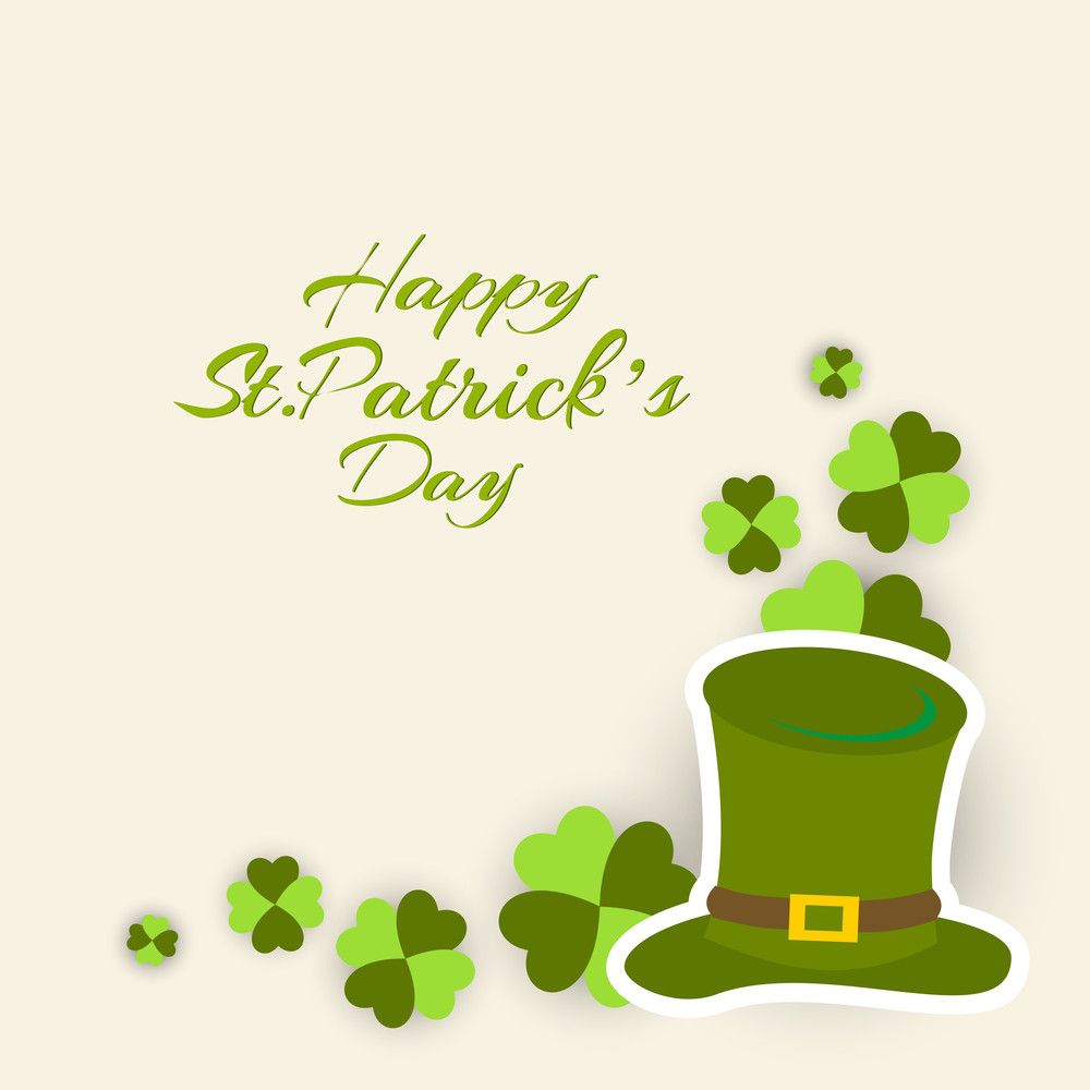 Happy St. Patricks Day Concept With Sticker