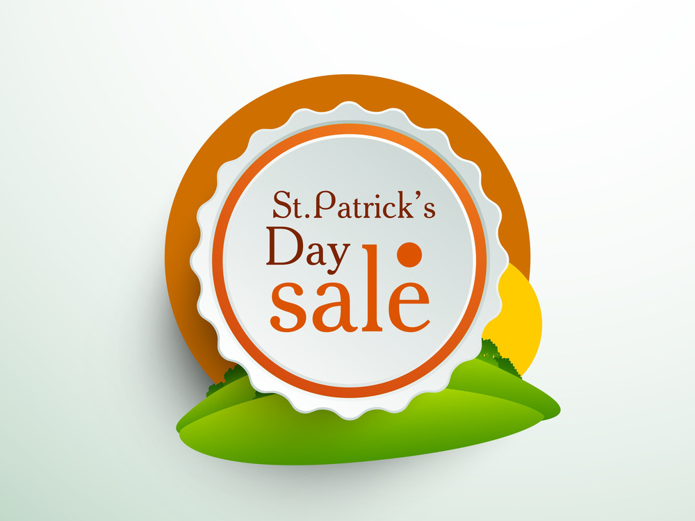 Happy St. Patrick's Day Sale Sticker