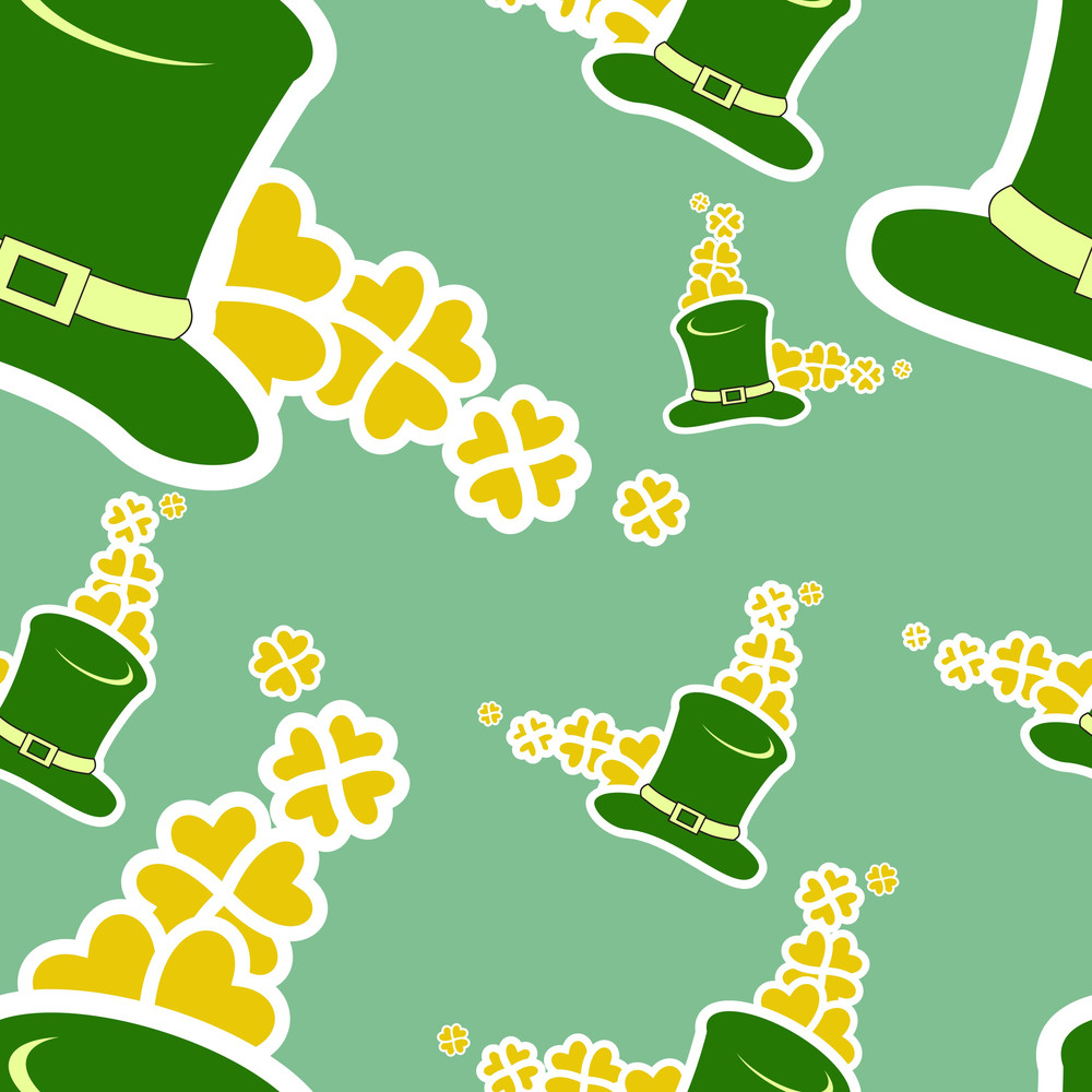 Happy St. Patrick's Day Seamless Background.